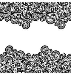 Black lacy vintage elegant trim seamless lace vector