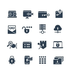 Business security system web protection vector image