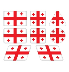buttons with flag of Georgia vector image