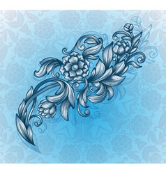 card with floral pattern vector image