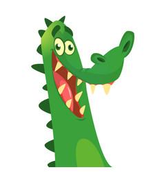Cartoon crocodile character vector