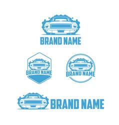 classic car wash logo vector image