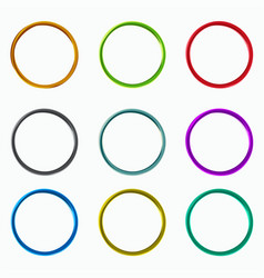 Color abstract circles loops logo elements vector