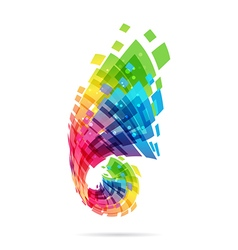 Colorful design element vector