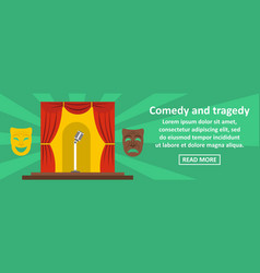 Comedy and tragedy banner horizontal concept vector