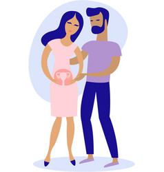 Couple having infertility problems vector