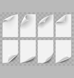 curved empty paper sheets vector image