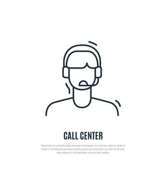 customer service icon operator of contact centre vector image