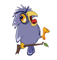 Cute owl cartoon character vector
