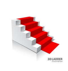 design elements white stairs realistic vector image