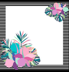 exotic tropical border frame template vector image