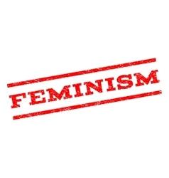Feminism watermark stamp vector