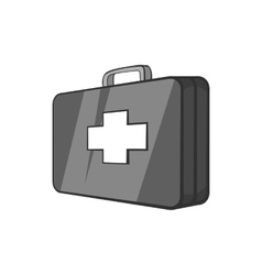 First aid kit icon black monochrome style vector image