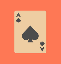 Flat icon on background poker playing card vector