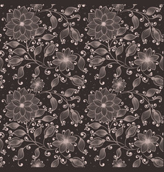 Flower seamless pattern background elegant vector