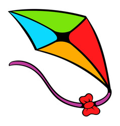 flying kite icon icon cartoon vector image