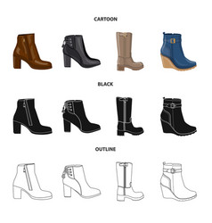 footwear and woman icon vector image