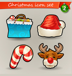 Funny christmas icons-2 vector