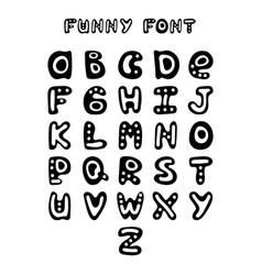 funny hand-drawn english alphabet vector image