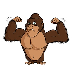 gorilla flexing vector image