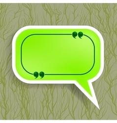 Green Paper Speech Bubble vector