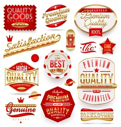Guaranteed and premium quality - labels vector
