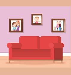 home living room scene vector image