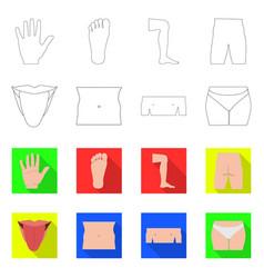 Human and part logo set of vector