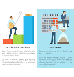 increase in profits planning vector image