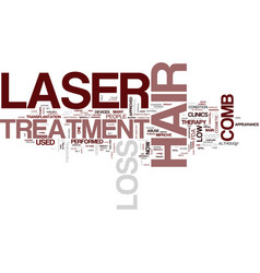 Laser treatment for hair loss a low cost therapy vector