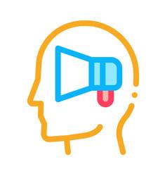 loudspeaker head icon outline vector image