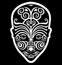 Maori face tattoo vector image