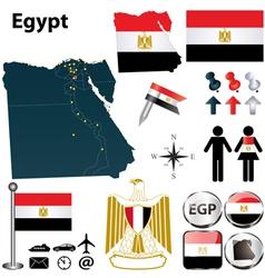 Map egypt vector