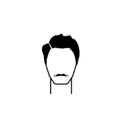 masculine hairstyle and mustache iconelement vector image