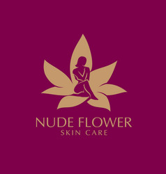 nude flower skin care vector image