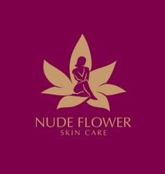 nude flower skin care vector image