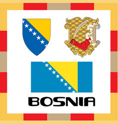 Official government ensigns of bosnia vector