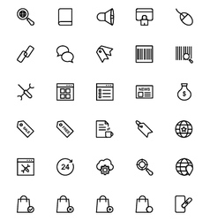 Online marketing Line Icons 4 vector