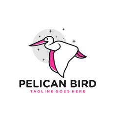 pelican bird outline inspiration logo vector image