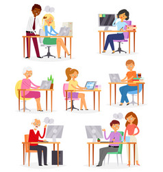 People work place business worker or person vector