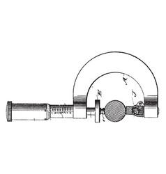 precision micrometer screw gauge vintage vector image