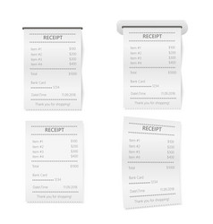 realistic sales printed receipt mock up vector image