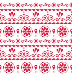 Scandinavian floral style folk art seamless vector