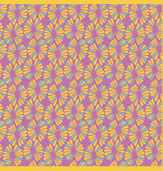 seamless toy pattern with retro flowers vector image