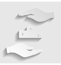 Sofa sign Paper style icon vector