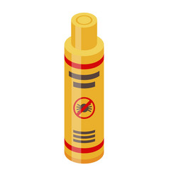 Stop mite spray icon isometric style vector