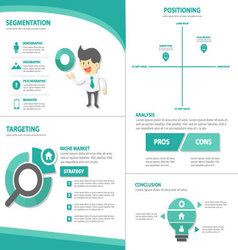STP strategy Infographic elements flat design set vector image