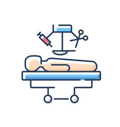 Surgery rgb color icon vector