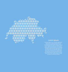 switzerland map abstract schematic from white vector image