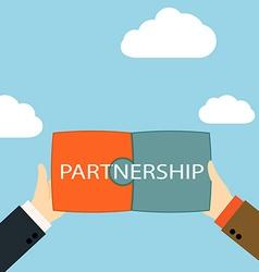 Symbol of business partnership vector